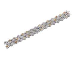 665. gem set and diamond bracelet