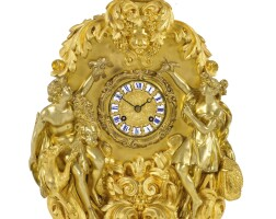 57. a gilt-bronze mantel clock, french, circa 1845