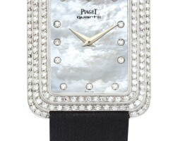 23. piaget   reference 74125 a white gold and diamond-set wristwatch with mother-of-pearl dial, made in 1978