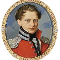 315. pietro de rossi | portrait of count wladyslaw jan adam puslowski (1801-1859), circa 1825