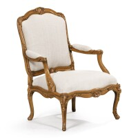 36. a louis xv carved and painted beechwood armchair, attributed tolouis cresson, circa 1740  