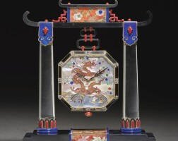 7. agold,rock crystal,enamel, mother of pearl and black onyx porticotimepiece, vacheron &constantin and verger freres, retailed by linzeler & marchak, circa 1926 |