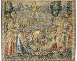 7. a flemish tapestry from the tenture des sept merveilles du monde, brussels, late 16th century |