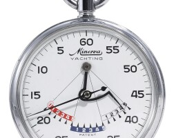 7. minerva   a stainless steel stopwatch with 15 minute counteryachting circa 1970