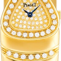 129. piaget | reference 49400 a yellow gold, diamond and citrine-set bangle watch, made in 1982