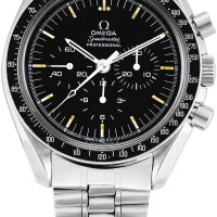 153. omega | speedmaster, reference 145.022 a stainless steel chronograph wristwatch with bracelet, circa 1970