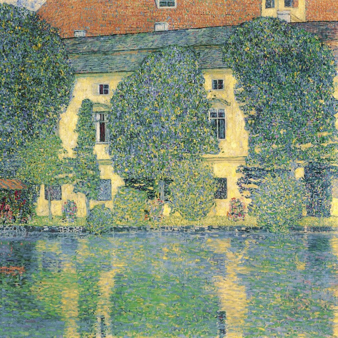 The Schlosskammer on the Attersee III, 1910 (oil on canvas)