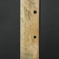 27. grande lame cérémonielle en jade, dao période erlitou, ca. 1900-1600 avant j.-c.