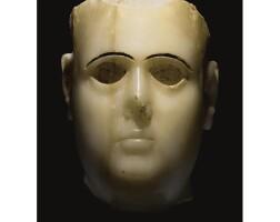 14. a south arabian alabaster head of a man, qatabân, circa 2nd/1st century b.c.