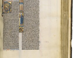 11. bible, with prologues and interpretations of hebrew names, in latin [france (paris), mid-13th century]