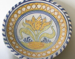 25. two netherlandish maiolica polychrome dishes early 17th century