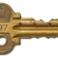 1. england, 20th century | large display model of a key