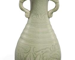 90. a rare 'yaozhou' bottle vase song dynasty