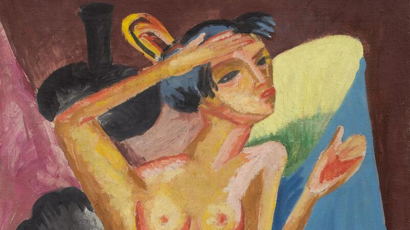 Kirchner's Primitive Nude Transcends the Laws of Perception