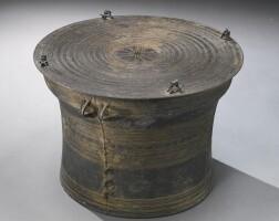 494. a bronze 'shan' drum