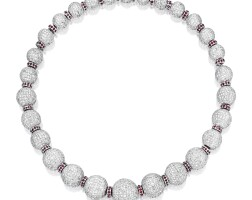 1508. diamond and ruby necklace