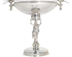 707. an american silver fruit tazza, ball, black & co., new york, 1851-1876