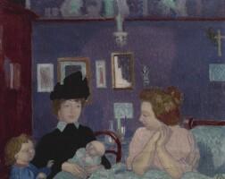 153. maurice denis | visite dans la chambre violette