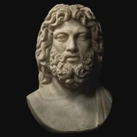 31. a roman marble head of zeus, late 1st/2nd century a.d., on 18th century shoulders   a roman marble head of zeus