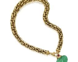 7. 黃金鑲祖母綠配紅寶石及鑽石項鏈, 寶格麗(bulgari)