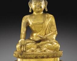118. 清十八世紀 鎏金銅寶生如來坐像