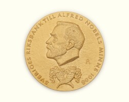 1. john f. nash jr.'s gold medal for the sveriges riksbank prize in economic science in memory of alfred nobel, awarded in 1994, with the accompanying diploma and related materials