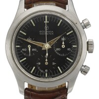 4. rodania | a stainless steel chronograph wristwatch with registers ref 5621 h geometer circa 1965