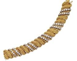 4. 18 karat gold and diamond bracelet