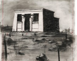"""121. william kentridge   drawing from """"preparing the flute"""" (temple)"""
