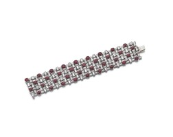 327A. ruby and diamond bracelet