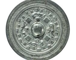126. 東漢中平三年 銅鎏銀瑞獸紋鏡 |
