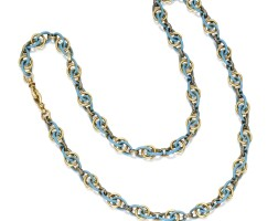 19. gold, diamond and enamel necklace, france