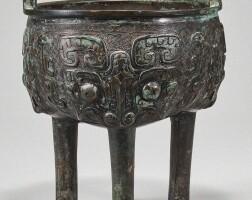 504. a bronze tripod ritual food vessel (liding) late shang / western zhou dynasty |