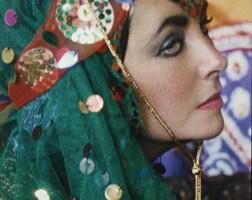 36. firooz zahedi | elizabeth taylor dressed as an odalisque ii, 1976