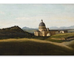 109. jean-baptiste-camille corot | souvenir of italy -the vaticanand saint-pierre outside the walls