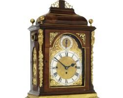 36. an english brass mounted mahogany quarter chiming table clock, third quarter 18th century