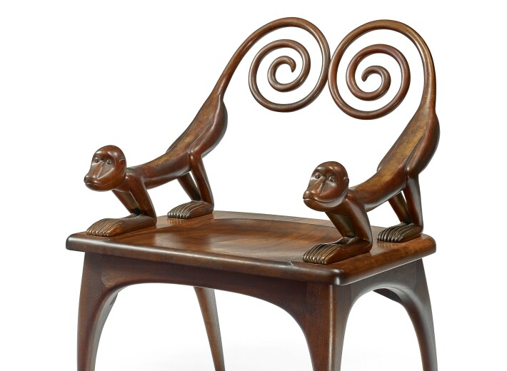 A Judy McKie monkey chair