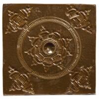 601. a nottingham brownsalt-glazed stoneware tile circa 1760 |