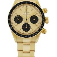 50. 勞力士(rolex) | 6263型號「daytona」黃金計時鍊帶腕錶備熱帶小錶盤,年份約1978。