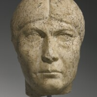 33. a marble portrait head of a woman, roman imperial, early severan, late 2nd/early 3rd century a.d.