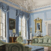 21. victor edelsteinborn in 1946 | view of lady h*'s blue living room, northamptonshire