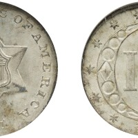 1. three-cent piece, silver, 1851, ngc ms 66 cac
