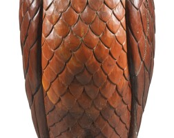 3. a carved pine model of an owl, modern
