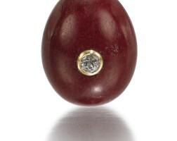 308. a jewelled purpurine egg pendant, circa 1895