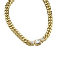 8. 黃金鑲鑽石項鏈