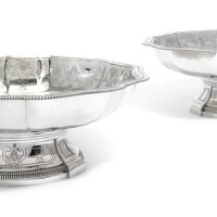 14. a pair of french silver footed dishes, francois-auguste boyer-callot, paris, circa 1880  