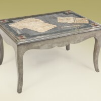 678. an italian scagliola and marble table the top19th century; thebase 20th century
