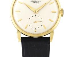 185. 百達翡麗(patek philippe) | 1578型號黃金抗磁腕錶,1963年製。