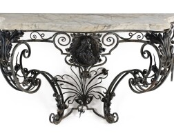 34. a wrought iron console in louis xv style, 19th century  
