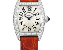 2039. franck muller | 2501 mc d型號 白金鑲鑽石腕錶,編號38,年份約2005。